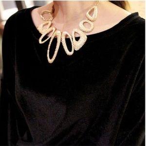 Jewelry - Shining Jewelry Collar Pendant Necklace Gold Women